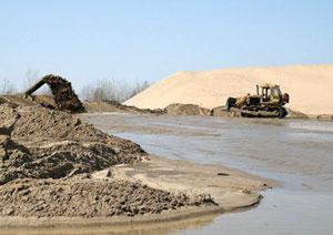 Фото - Намыв речного песка