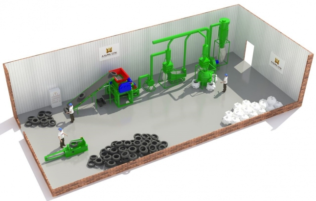 Фото - Завод по переработке шин