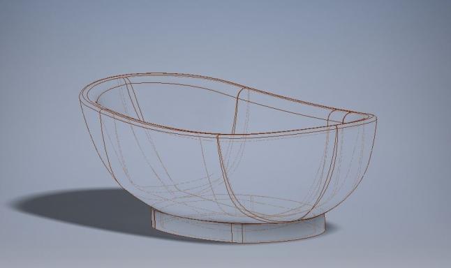 Фото - Производство ванн и мебели из монолита дерева