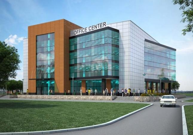 Фото - Строительство торгово-офисного центра в центре города Одинцово