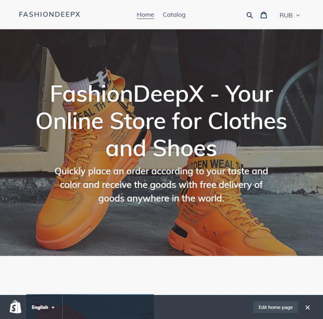 Фото - Готовый дропшиппинг онлайн-магазин обуви на Shopify