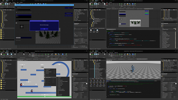 Photo 2 - IDE with built-in 3D, 2D game engine