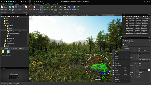 Photo 3 - IDE with built-in 3D, 2D game engine